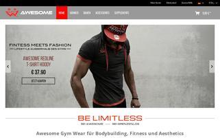 awesomegymwear.com Webseiten Screenshot