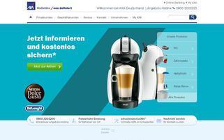 AXA Webseiten Screenshot