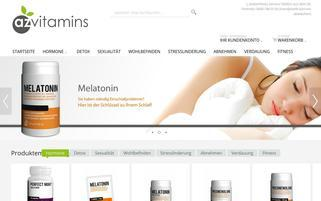 az-vitamins.com Webseiten Screenshot