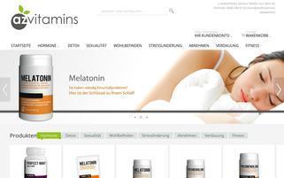 az-vitamins.com Webseiten Screenshot
