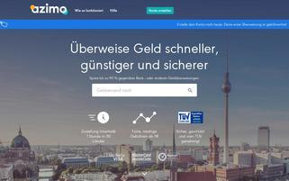 Azimo Webseiten Screenshot