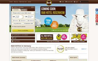 B&B Hotels Webseiten Screenshot