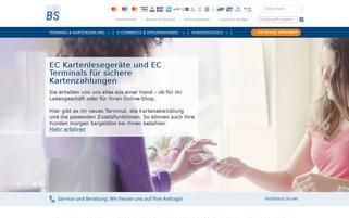 B+S Card-Service Webseiten Screenshot