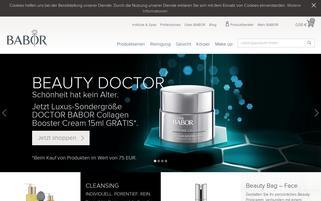 Babor Webseiten Screenshot