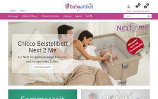 babyartikel.de Webseiten Screenshot