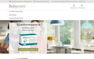 babyforte.de Webseiten Screenshot