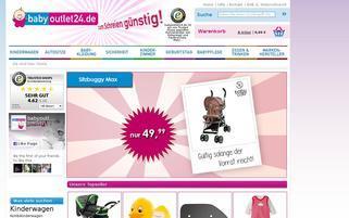 BabyOutlet24 Webseiten Screenshot