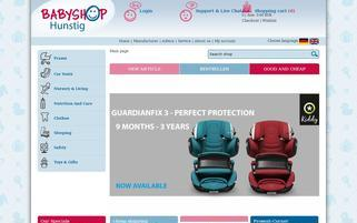 Babyshop Webseiten Screenshot