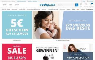 babywalz.de Webseiten Screenshot