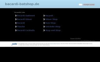 bacardi-batshop.de Webseiten Screenshot
