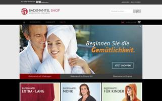 Bademantel Online Webseiten Screenshot