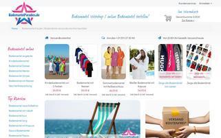 Bademantelparadies Webseiten Screenshot