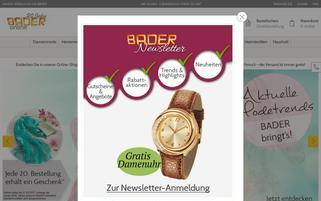 Bader Webseiten Screenshot