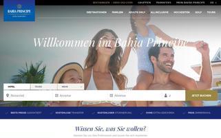 Bahia Principe Hotels Webseiten Screenshot
