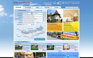 Balaton24 Webseiten Screenshot