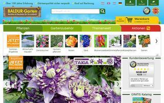 Baldur Garten Webseiten Screenshot