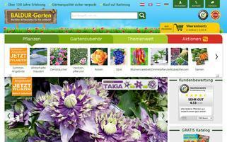 BALDUR Garten Österreich Webseiten Screenshot