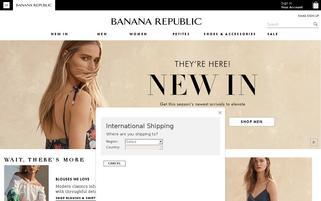 Banana Republic Webseiten Screenshot