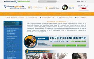 BandagenSpezialist Webseiten Screenshot