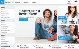 BandyShirt Webseiten Screenshot