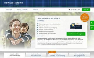 Bank of Scotland Webseiten Screenshot