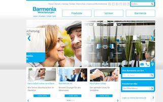 Barmenia Webseiten Screenshot