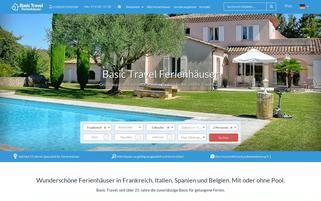 Basic Travel Webseiten Screenshot