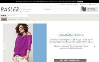 basler-fashion.de Webseiten Screenshot