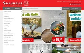 BAUHAUS Webseiten Screenshot