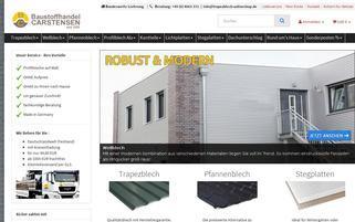 Baustoffhandel Carstensen Webseiten Screenshot