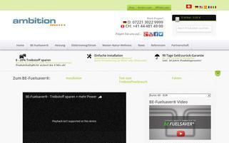 BE Fuelsaver Webseiten Screenshot