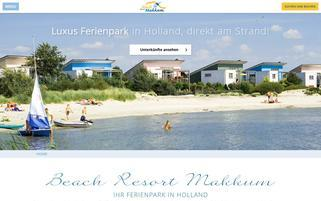 Beach Resort Makkum Webseiten Screenshot