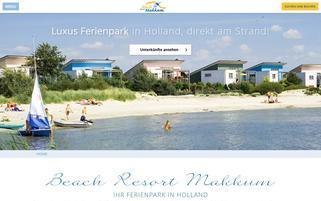 Beach Resort Makkum Webseiten Screenshot