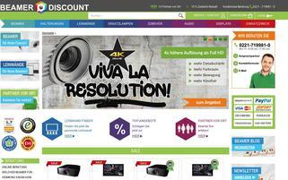 beamer-discount Webseiten Screenshot