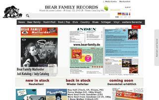 Bear Family Webseiten Screenshot