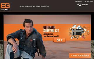 Bear Grylls Shop Webseiten Screenshot