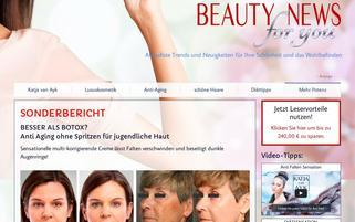 beauty-news-for-you.com Webseiten Screenshot