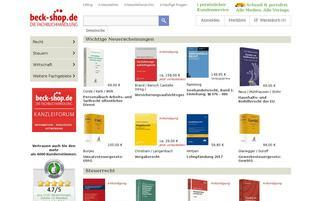 beck-shop Webseiten Screenshot