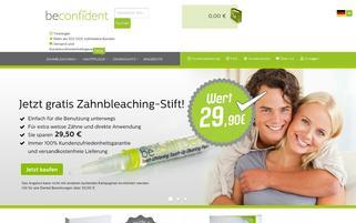 beconfident.de Webseiten Screenshot