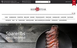 Beef&Steak Webseiten Screenshot