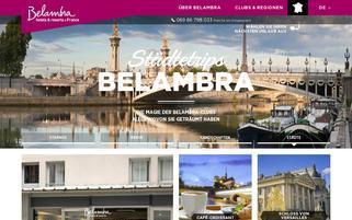 Belambra Webseiten Screenshot