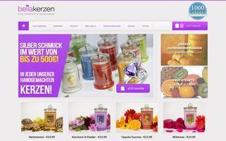 BellaKerzen Webseiten Screenshot