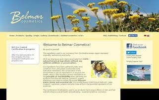 Belmar cosmetics Webseiten Screenshot