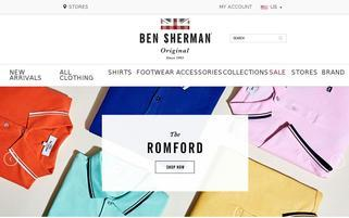 Ben Sherman Webseiten Screenshot