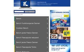 Bench Webseiten Screenshot