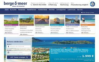 Berge & Meer Webseiten Screenshot