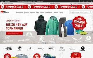 Bergfreunde Webseiten Screenshot