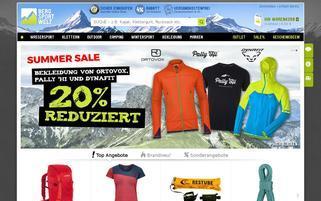 Bergsport-Welt Webseiten Screenshot