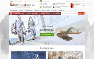 Bergzeit Webseiten Screenshot