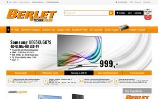 Berlet Webseiten Screenshot